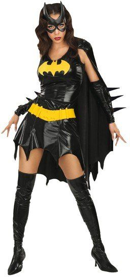 Sexy Batgirl im Lack und Leder Outfit