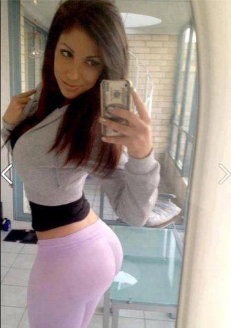 Selfie von ihrem Bubble Butt