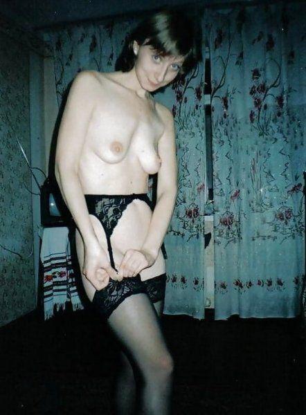 Hausfrau in Nylons
