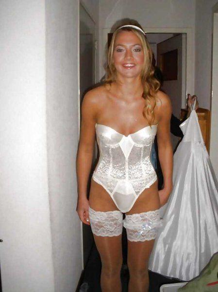 Braut in Nylons