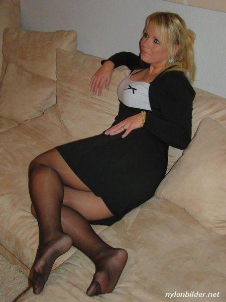 Frau in Strumpfhose