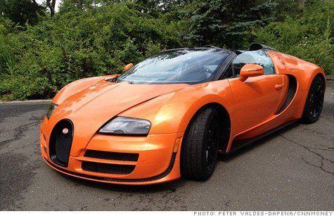 Bugatti Veyron in Orange
