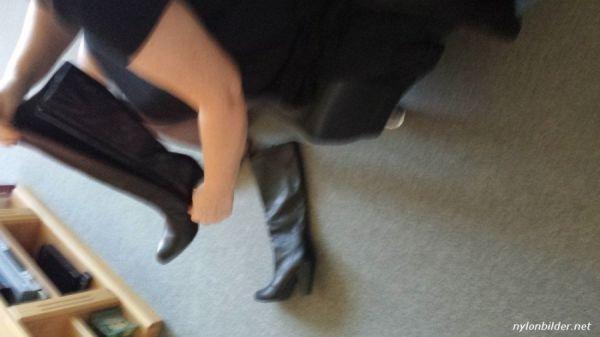 Stiefel anziehen